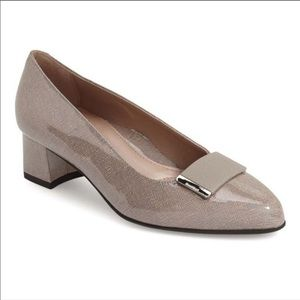 BeautiFeel Gray Paola Pointed Toe Block Heel Pumps